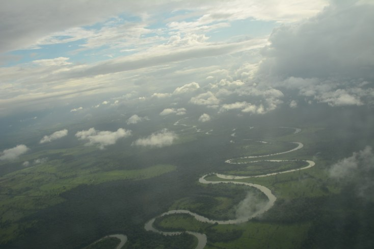 Flying out of Tortuguero