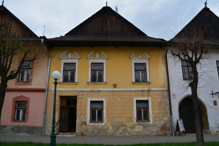 Historic traditional houses in Kežmarok