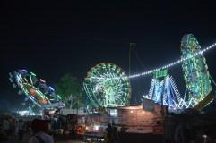The funfair at night