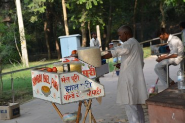Snack stalls in the park