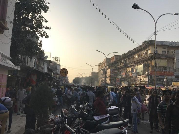 Old Delhi rammed street