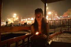 Jess with her prayer lantern