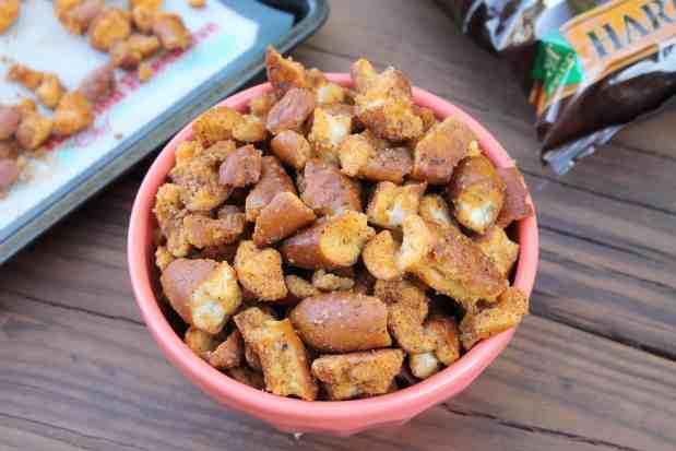 Cheesy Taco Seasoned Hard Pretzels 1