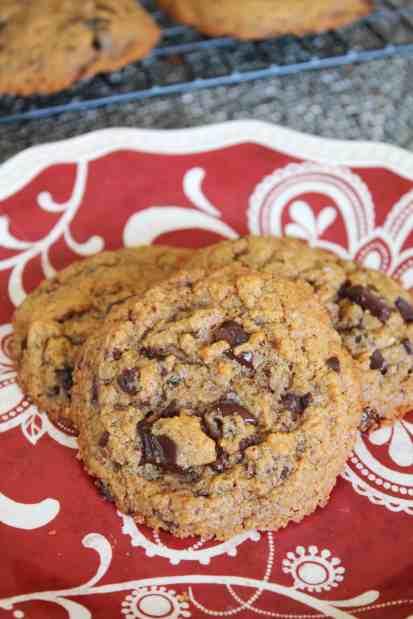 Flourless Almond Butter Dark Chocolate Chunk Cookies 1