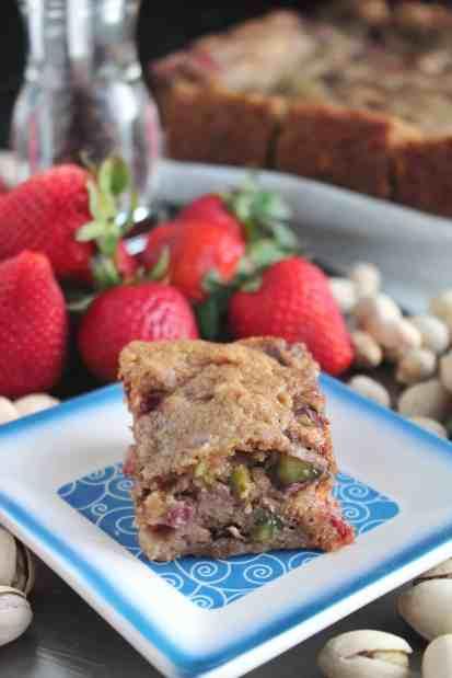 Strawberry Black Peppercorn Pistachio Cookie Bars 3