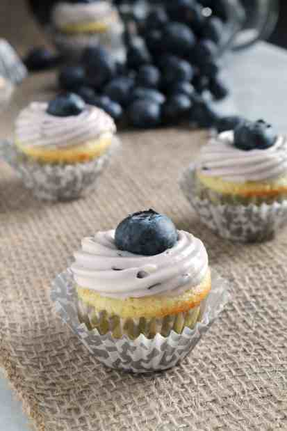 Mini Lime Cupcakes with Blueberry Frosting 1