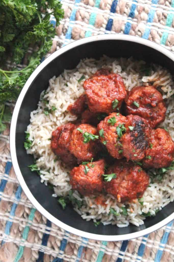 Slow Cooker Greek Meatballs