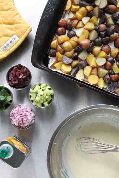 Creamy Lemon Mediterranean Potato Salad 1