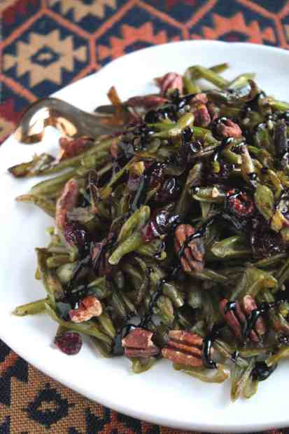 Roasted Green Bean Salad with Cranberries and Toasted Pecans 1