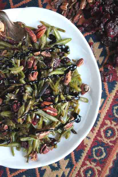 Roasted Green Bean Salad with Cranberries and Toasted Pecans 2