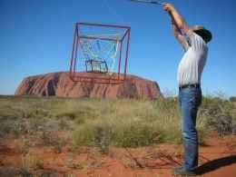 Lifting the Cube on Uluru.