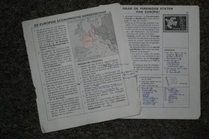 Geography book primary school 1965: To a Unified Europe.