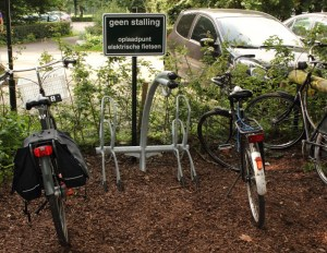 Free charge point for electric bikes