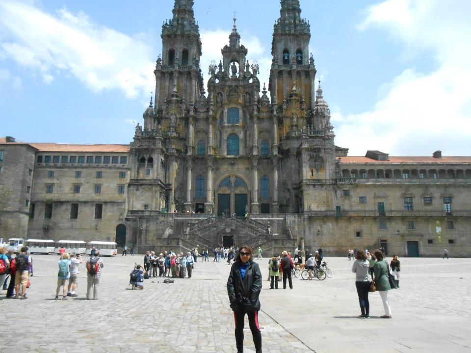 Cathedral destination of camino de Santiago