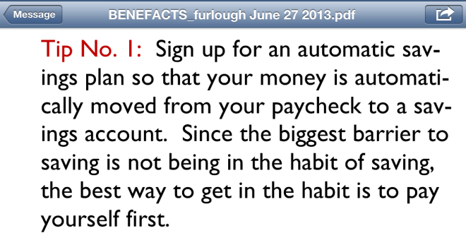 Financial tip 1