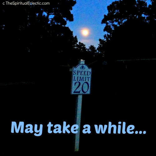 Speed limit to the moon