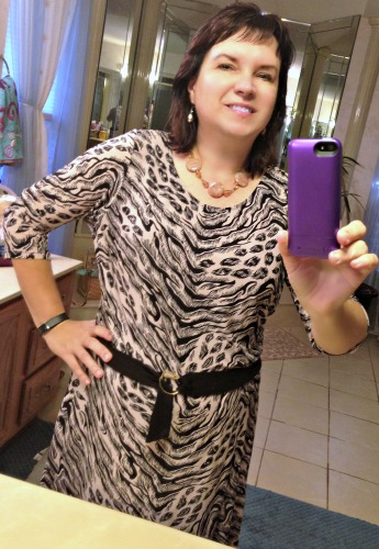 This dress worked great for work, paired with pumps and a dressy jacket.  Relaxed, loosed, practical, and comfortable was just what I needed for a frantic work day.