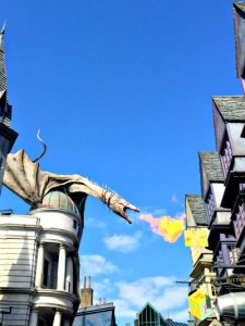 Harry Potter World's Dragon puffs fire
