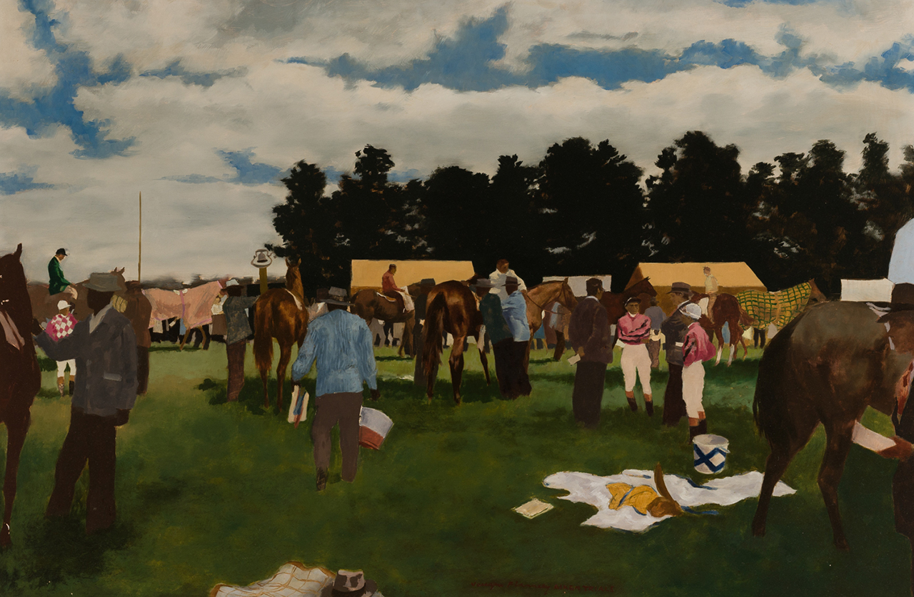 painting of aiken trials 1942