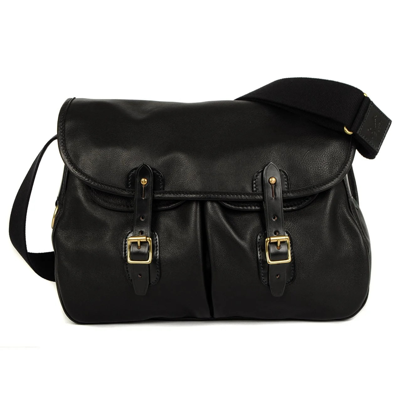 Brady Ariel Trout Bag Black Leather - The Sporting Lodge