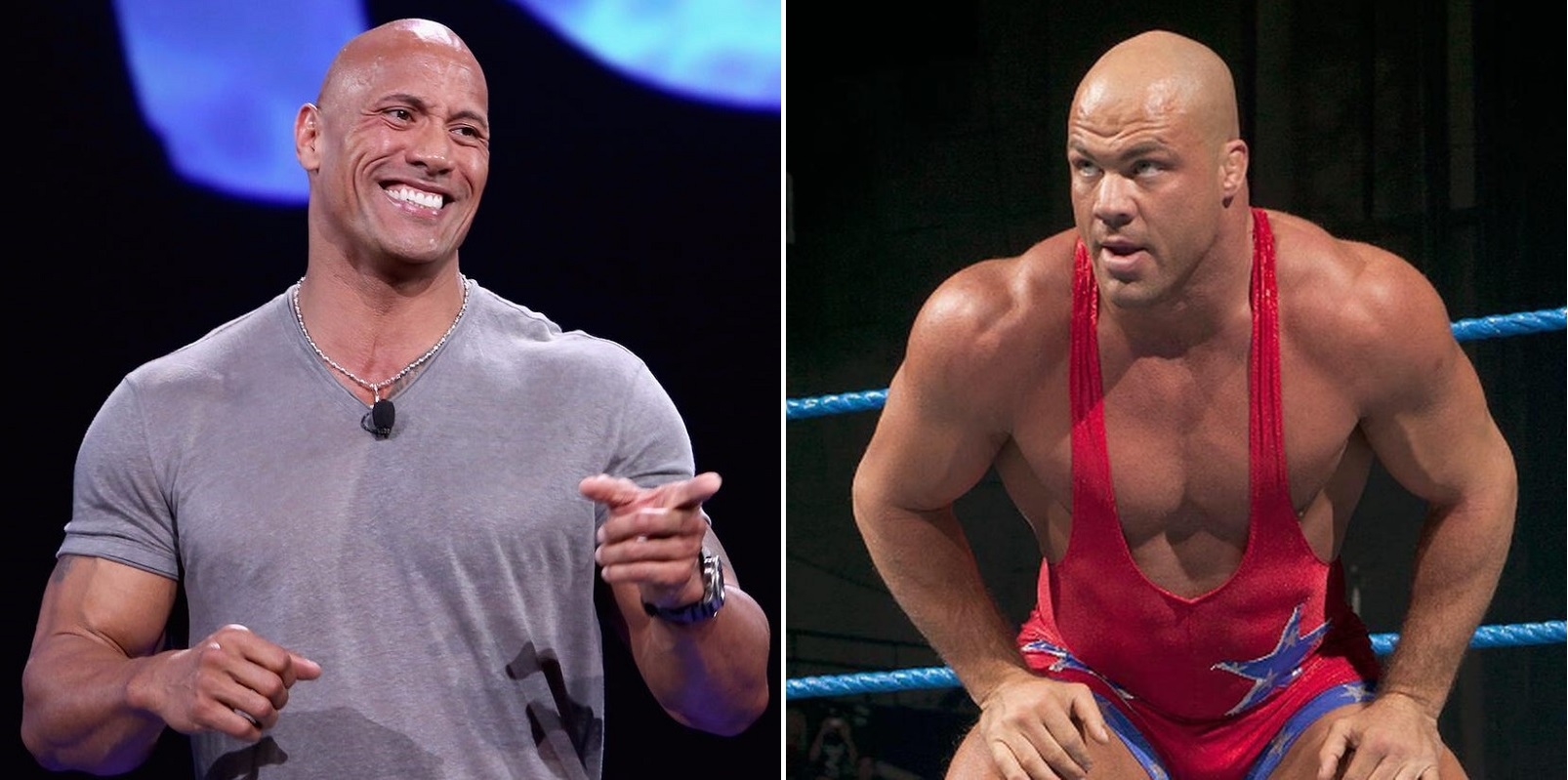 The Rock reacts to hysterical house show with Kurt Angle - THE SPORTS ROOM