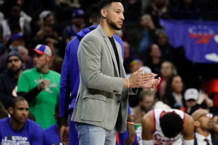 Ben Simmons will be looking to return before the end of the 2019-20 season.