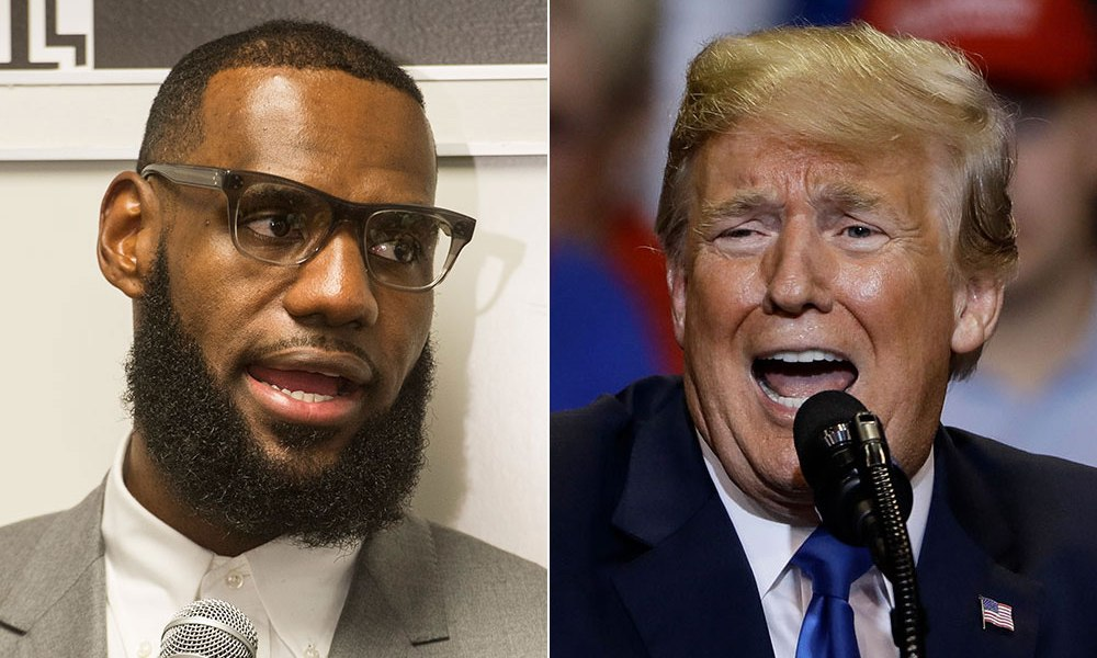 LeBron James fires back at Donald Trump, says NBA won't miss him as viewer - THE SPORTS ROOM