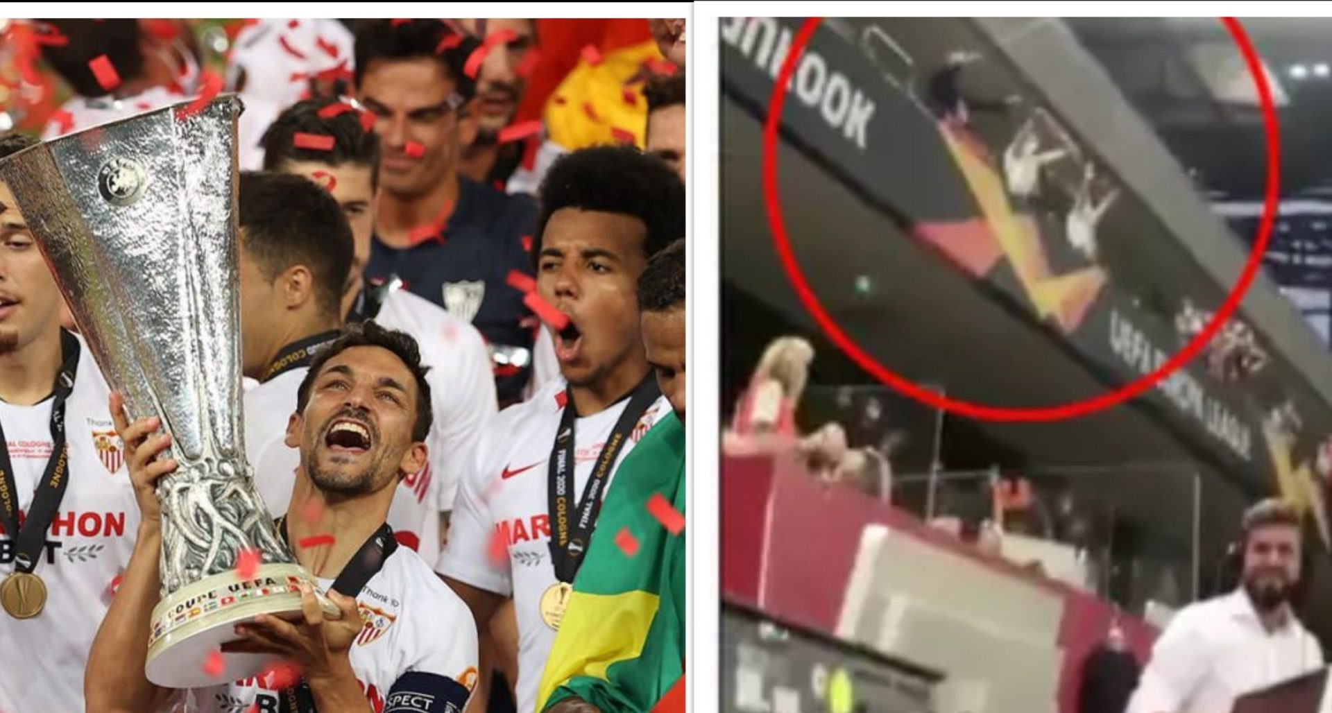 Sneaky trespassers-Sevilla fans enter the stadium dressed as officials in Europa League Final - THE SPORTS ROOM