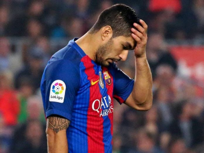 Watch: Luis Suarez tears up during his Barcelona farewell ceremony - THE SPORTS ROOM