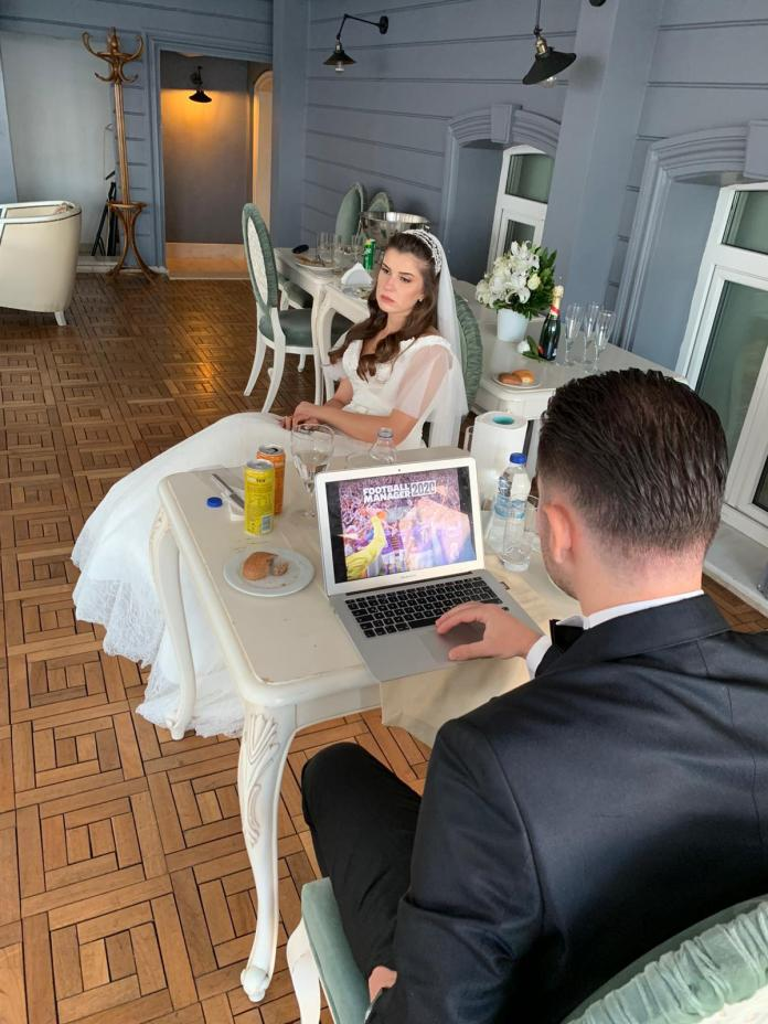 Crazy priority: 28-year old plays Football Manager, on his wedding day! - THE SPORTS ROOM