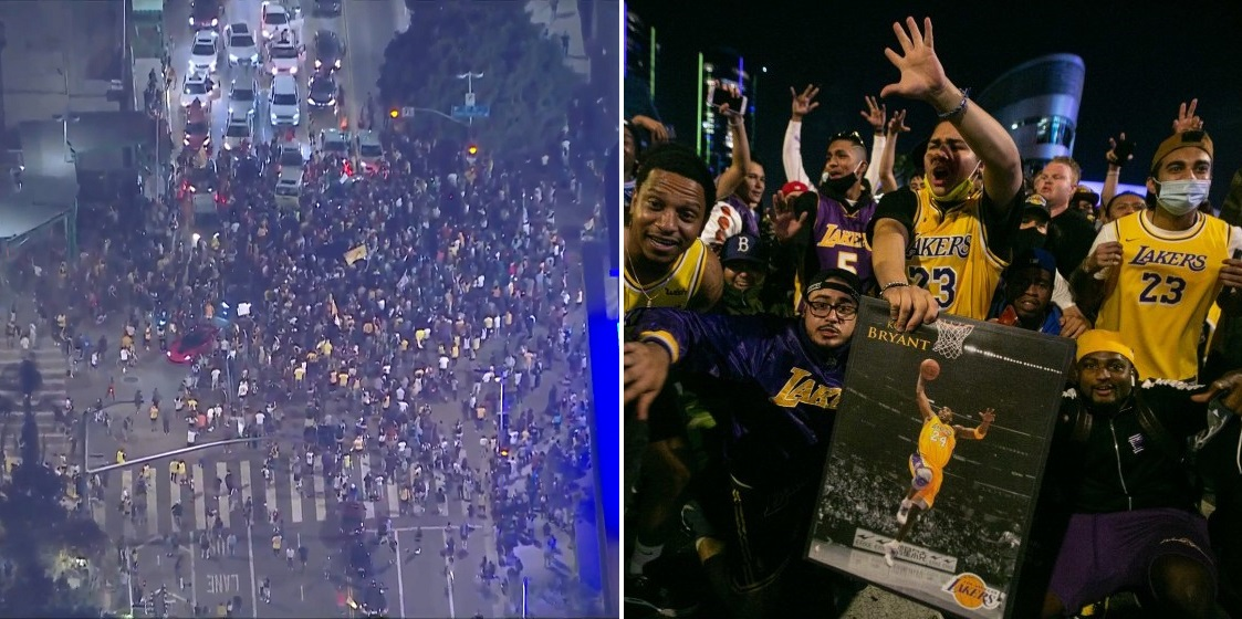 Watch: Lakers fans take to the streets to celebrate championship triumph amid COVID-19 restrictions - THE SPORTS ROOM