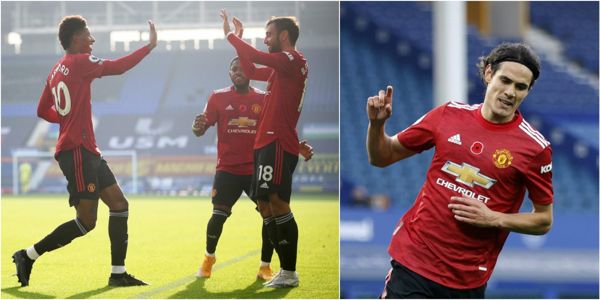 Manchester United secure 3-1 victory over Everton with a last-minute strike from Edinson Cavani - THE SPORTS ROOM