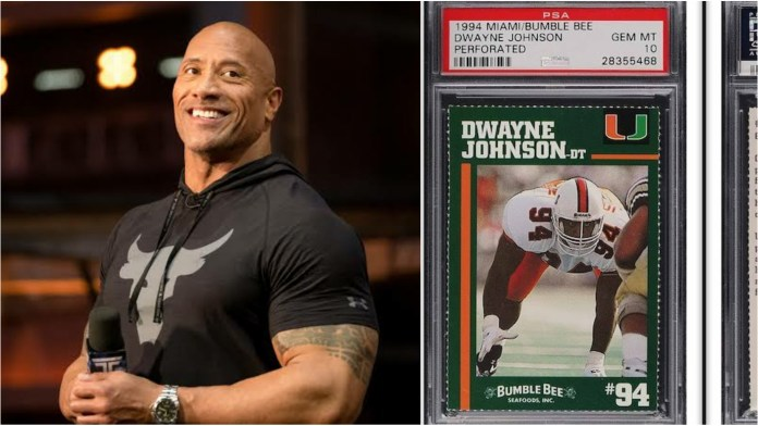 The Rock's college football card sold for sky high amount - THE SPORTS ROOM
