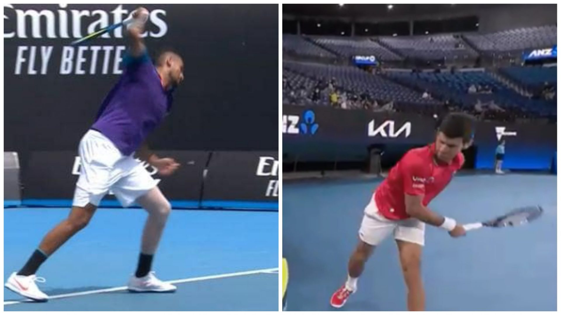 Nick Kygrios, Novak Djokovic lose cool in ATP Tour finals - THE SPORTS ROOM