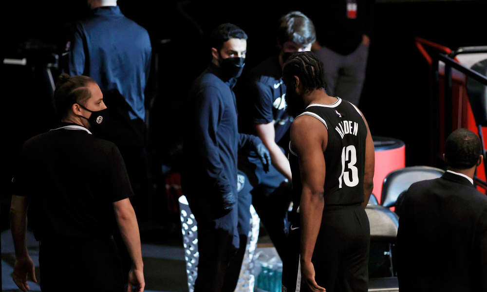 James Harden could be out for the remainder of series as Nets anxiously await MRI results - THE SPORTS ROOM
