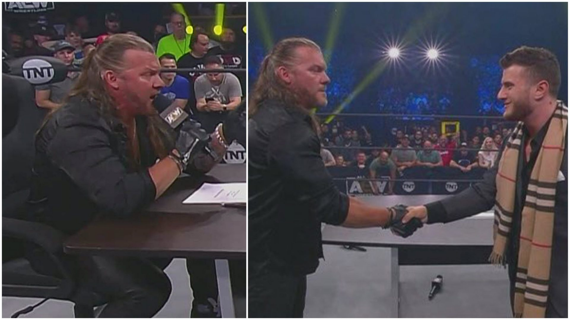 """Fan invade AEW Dynamite during """"Labours Of Jericho"""" segment - THE SPORTS ROOM"""