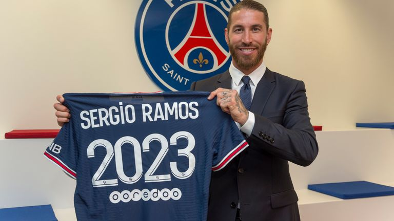 PSG sign Sergio Ramos on a two-year deal - THE SPORTS ROOM
