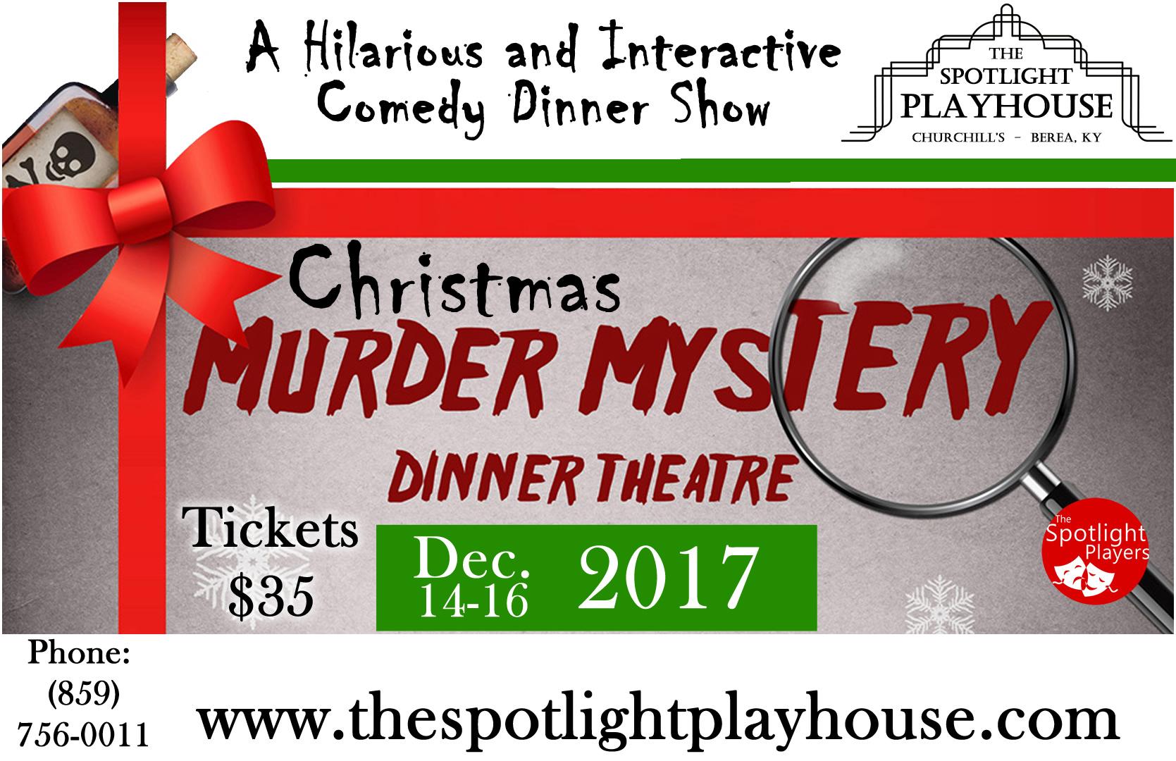 Christmas Murder Mystery Dinner Show
