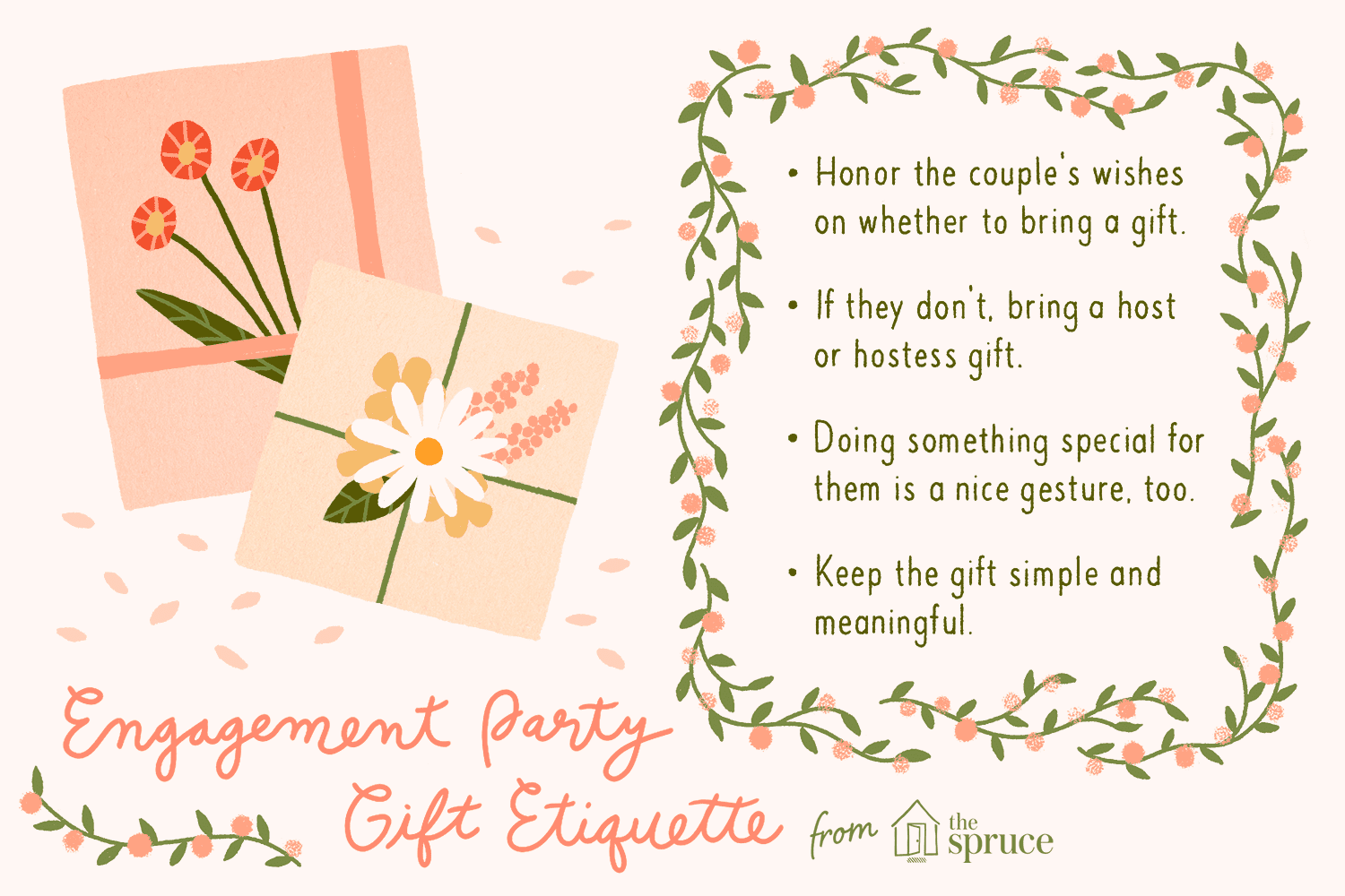 gift tips for the engagement party