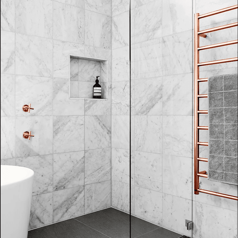 gorgeous bathrooms with marble tile