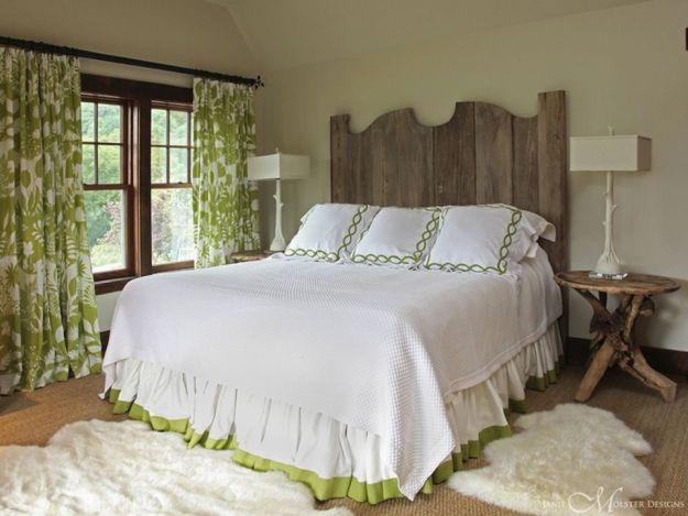 beautiful bedrooms with wooden headboards
