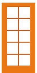 Single Mahogany French Door