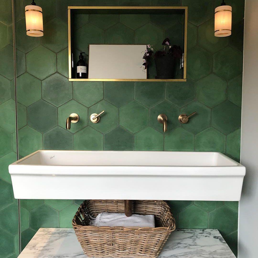 ideas for gorgeous green bathrooms