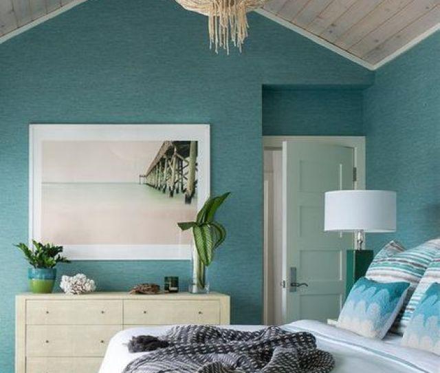 Beach Bedroom With Grass Light Fixture