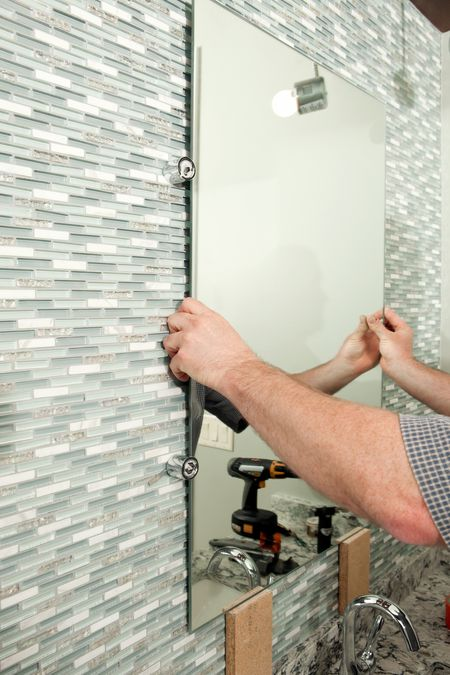 glass tile backsplashes