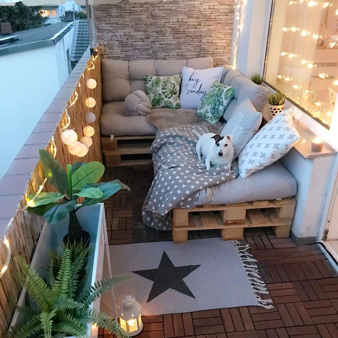 tiny apartment balcony