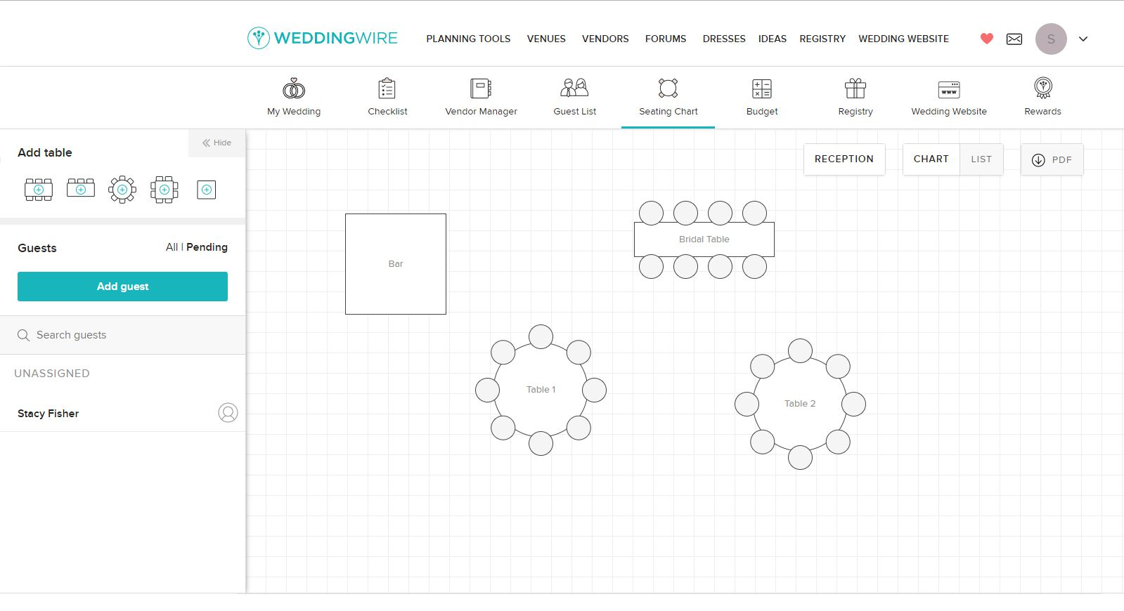 5 Free Wedding Seating Chart Templates