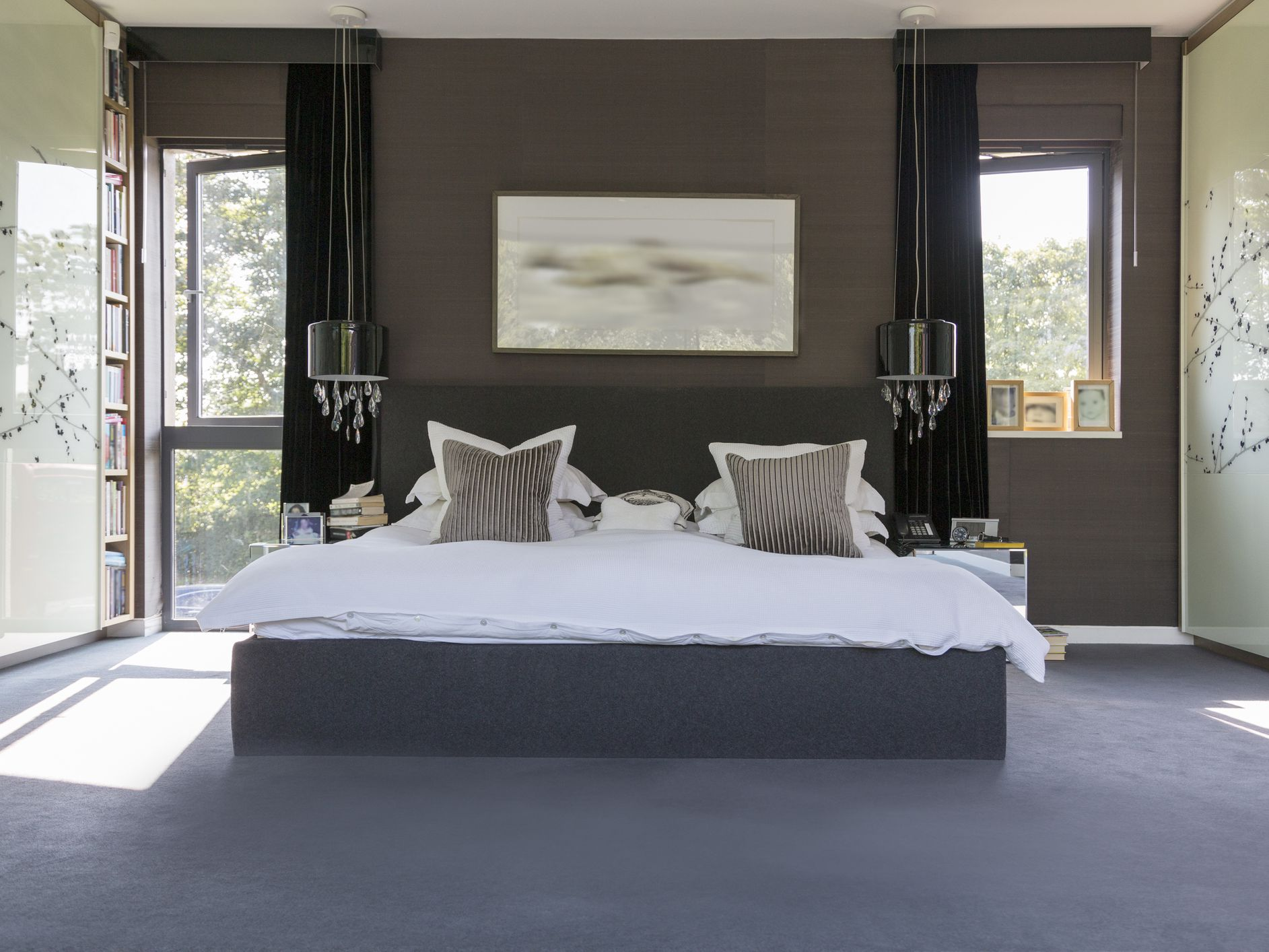 creating a romantic bedroom with color
