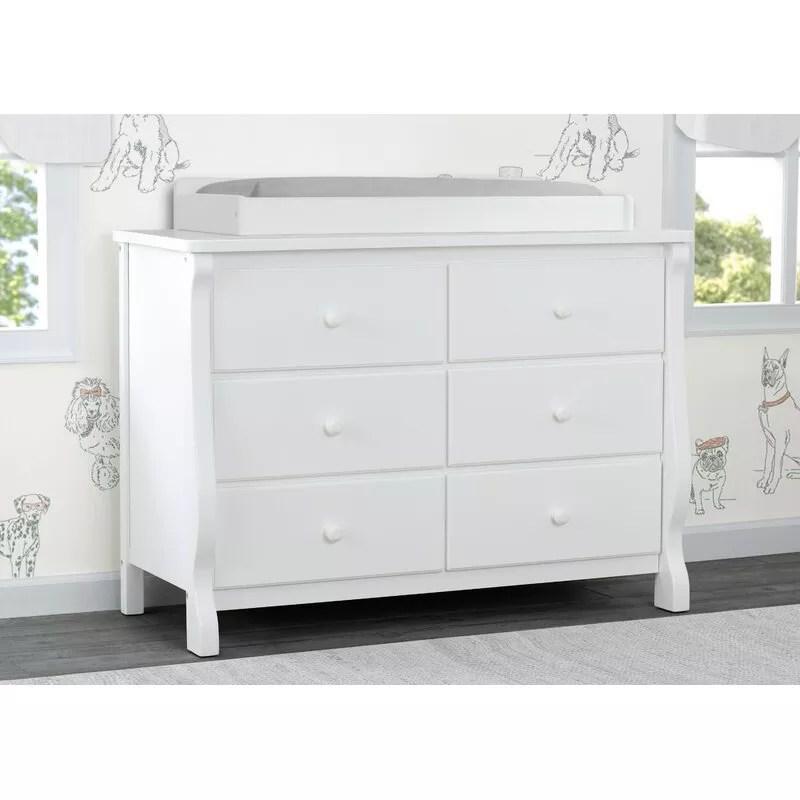 Delta Children Universal 6 Drawer Changing Table Dresser