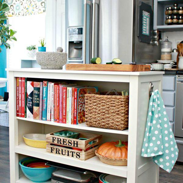 cookbook display and storage ideas